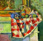 Still Life, Checked Tablecloth - Henri Matisse oil painting,