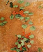 Nasturtiums - Gustave Caillebotte Oil Painting