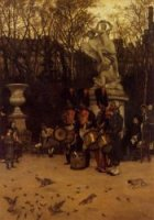 Beating the Retreat in the Tuilleries Gardens - Oil Painting Reproduction On Canvas