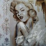 Portrait of Marilyn Monroe 2 - Oil Painting Reproduction On Canvas