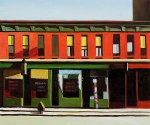 Early Sunday Morning II - Edward Hopper oil painting