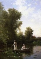 Boating in the Afternoon - Alfred Thompson Bricher Oil Painting
