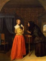 Bathsheba Receiving David's Letter - Oil Painting Reproduction On Canvas