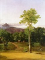 Cabin in the Woods, North Conway, New Hampshire - Thomas Cole Oil Painting