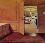 Interior, Vestibule by Lamplight - Felix Vallotton Oil Painting