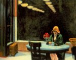Automat - Edward Hopper Oil Painting
