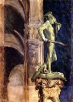 Perseus by Night - John Singer Sargent Oil Painting