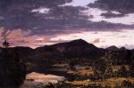 Lake Scene in Mount Desert - Frederic Edwin Church Oil Painting