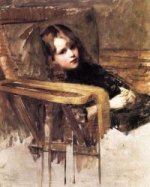 The Easy Chair - John William Waterhouse Oil Painting