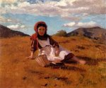 The Picnic Basket - John George Brown Oil Painting