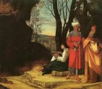 The Three Philosophers - Giorgio Barbarelli da Castelfranco Oil Painting