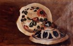 Soup Bowl Covers - Jean Frederic Bazille Oil Painting
