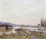 Banks of the Seine - Alfred Sisley Oil Painting