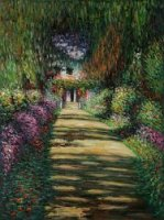 Garden Path at Giverny II - Claude Monet Oil Painting