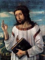 Blessing Christ - Giovanni Bellini Oil Painting
