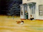 Cape Cod Evening - Edward Hopper Oil Painting
