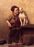 My Pardner - John George Brown Oil Painting