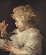 Boy with Bird - Peter Paul Rubens Oil Painting
