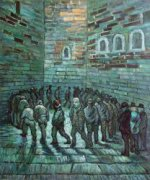 The Prison Exercise Yard II - Vincent Van Gogh Oil Painting