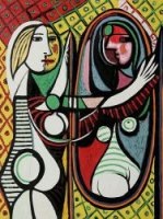 Girl Before a Mirror II - Pablo Picasso Oil Painting