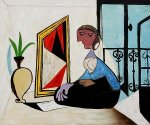 Femme Au Miroir - Oil Painting Reproduction On Canvas