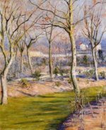 The Garden at Petit Gennevilliers in Winter - Gustave Caillebotte Oil Painting