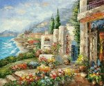 Floral Bay - Oil Painting Reproduction On Canvas