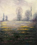 Meadow in Giverny - Claude Monet Oil Painting