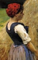 Normandy Girl - Oil Painting Reproduction On Canvas