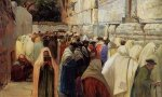 Jews at the Wailing Wall - Gustav Bauernfeind Oil Painting