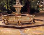 A Marble Fountain at Aranjuez, Spain - John Singer Sargent Oil Painting
