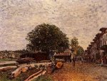 Construction Site at Saint-Mammes - Alfred Sisley Oil Painting