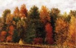 Autumn Woods at the Edge of a Cornfield - William Aiken Walker Oil Painting