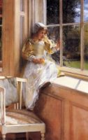 Sunshine - Sir Lawrence Alma-Tadema Oil Painting
