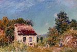Abandoned House III - Alfred Sisley Oil Painting