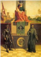 The Castelfranco Madonna - Giorgio Barbarelli da Castelfranco Oil Painting