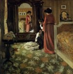 Interior, Bedroom with Two Figures - Oil Painting Reproduction On Canvas