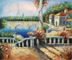 Resort Near The Eiffel - Oil Painting Reproduction On Canvas