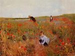 les coquelicots - Mary Cassatt Oil Painting