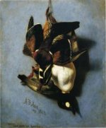 American Wood Duck and Golden Eye - Arthur Fitzwilliam Tait Oil Painting