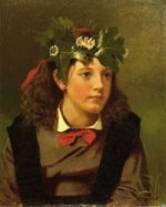 Little Miss Autumn - John George Brown Oil Painting
