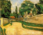Houses along a Road - Paul Cezanne Oil Painting