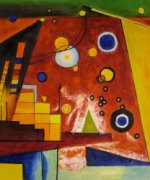 Schweres Rot (Heavy Red) 1924 - Wassily Kandinsky Oil Painting