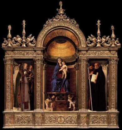 Frari Triptych - Giovanni Bellini Oil Painting