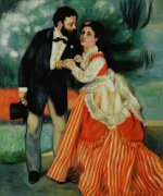 The Engaged Couple - Pierre Auguste Renoir Oil Painting