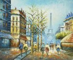 Signs Of Fall Near The Eiffel - Oil Painting Reproduction On Canvas
