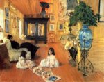 Hall at Shinnecock - William Merritt Chase Oil Painting