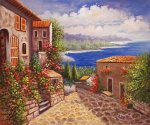 Silent Harbor - Oil Painting Reproduction On Canvas