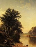 By the River - Alfred Thompson Bricher Oil Painting