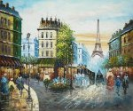 Morning on the Wet Streets of Paris II - Oil Painting Reproduction On Canvas